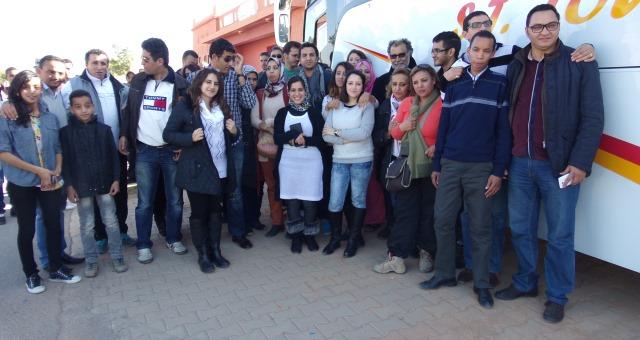 فنانون مغاربة يشاركون في قافلة