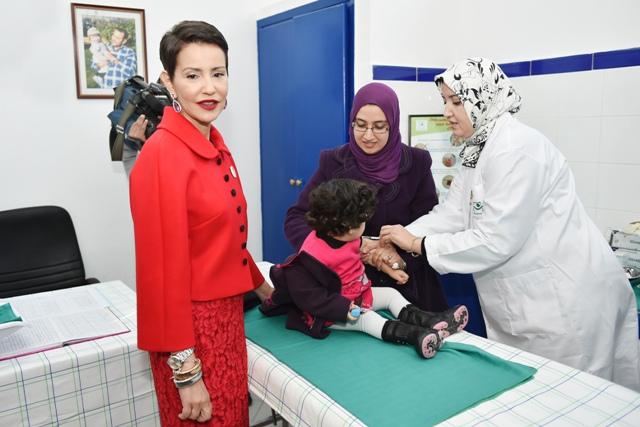 الأميرة للا مريم تعطي الانطلاقة الرسمية للعمل بالجدول الجديد للتلقيح