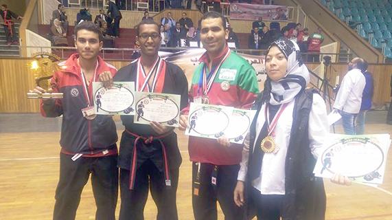المنتخب الوطني للفنون الدفاعية يتألق بمصر