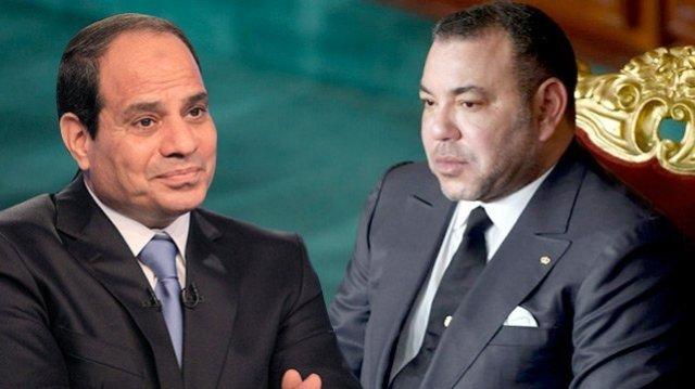 الملك محمد السادس والرئيس السيسي يلتزمان بصيانة العلاقات الثنائية من أية محاولات للمس بها