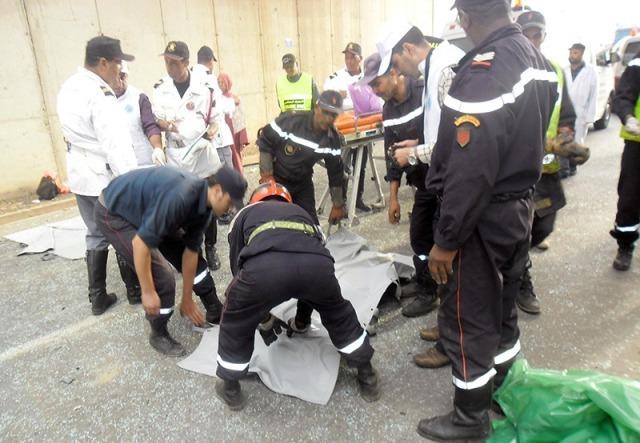 حادث سير مؤلم يسفر عن مصرع خمسة أشخاص نواحي مدينة سيدي بنور