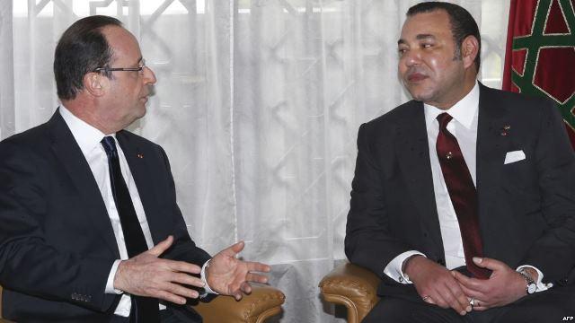 محمد السادس والرئيس فرانسوا