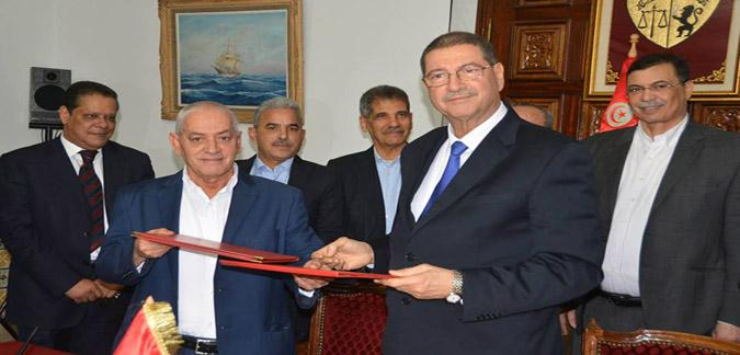 تونس..إمضاء اتفاق  للمفاوضات الاجتماعية بين الحكومة واتحاد الشغل