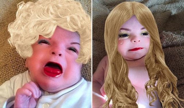 بالصور: أم تحول رضيعها إلى أبشع طفل في العالم