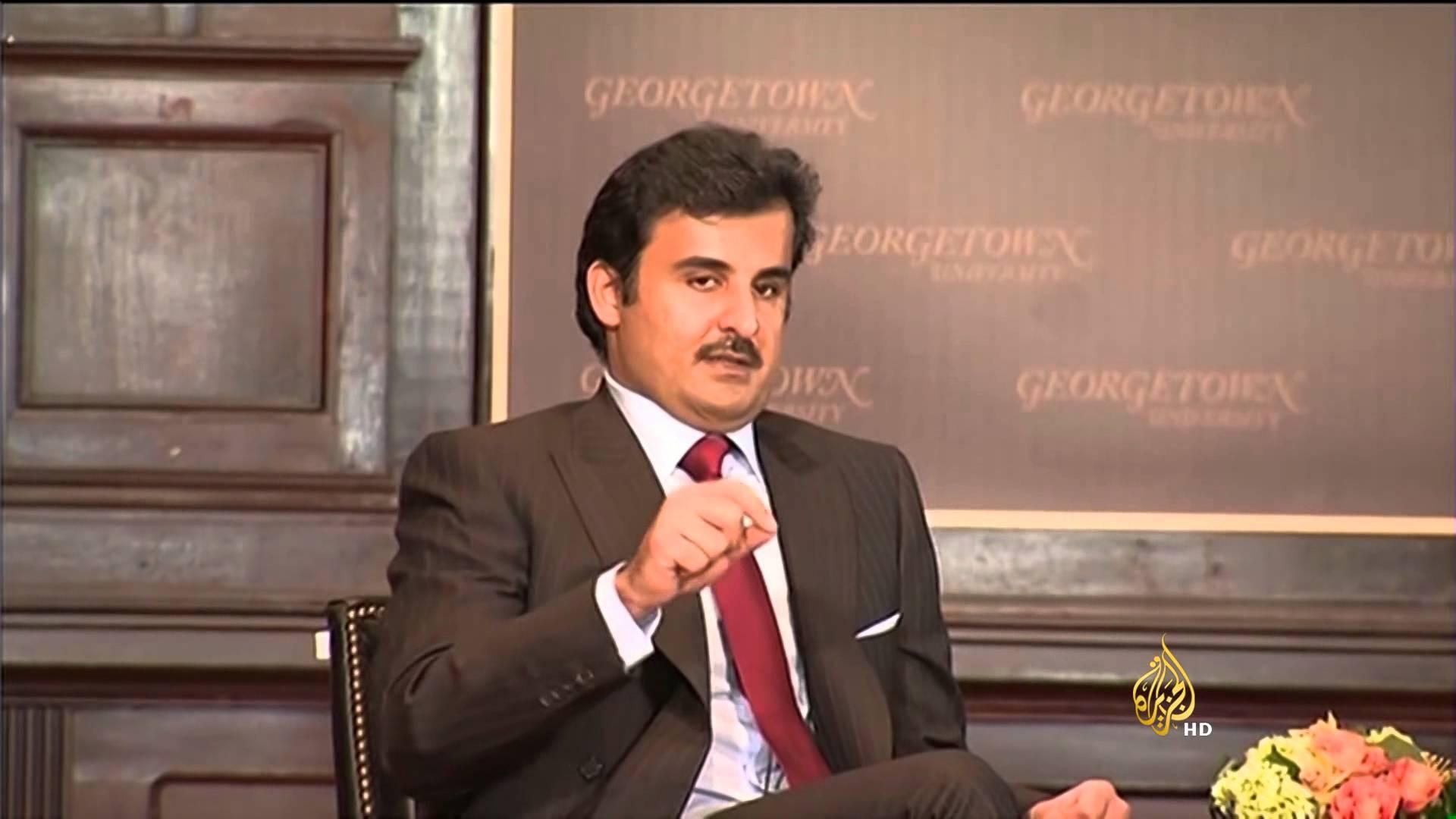 أمير قطر بجامعة جورج تاون