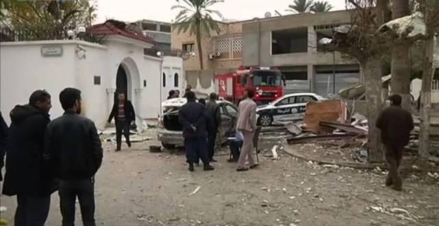 استهداف السفارة السودانية بطرابلس بقنبلة يدوية