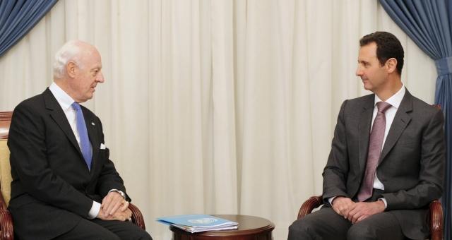 المبعوث الدولي إلى سوريا يلتقي الأسد