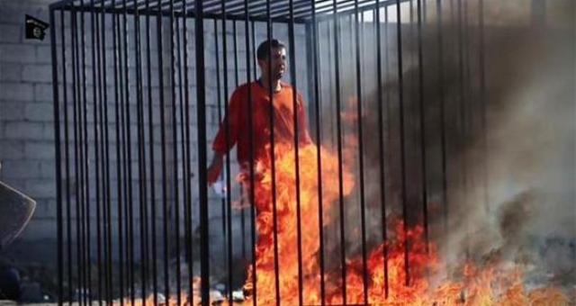 الكساسبة يعدم حرقا من قبل