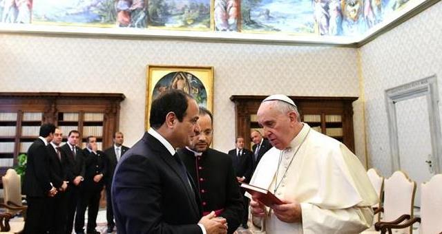 البابا يدين ذبح الأقباط المصريين على يد
