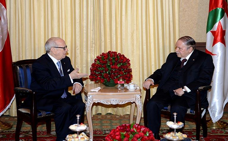 الرئيس التونسي في لقائه مع بوتفليقة:أمن الجزائر هو أمن تونس