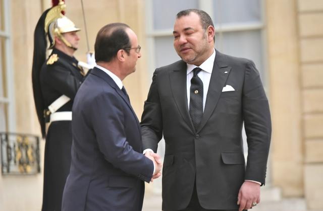 SM le Roi s entretient a Paris avec le president francais-G2