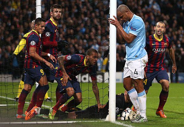 قمة مثيرة بين برشلونة وسيتي في دوري الأبطال
