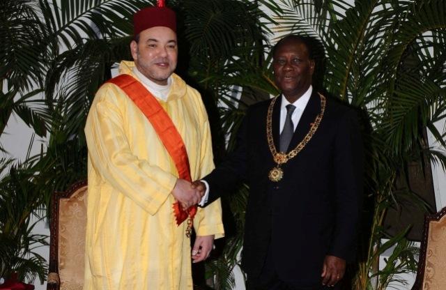 العاهل المغربي يهنيء رئيس الكوت ديفوار بفوز منتخب بلده بكأس افريقيا