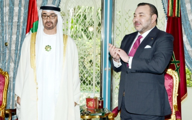 العاهل المغربي وولي عهد أبو ظبي يدشنان مستشفى الشيخ خليفة بن زايد آل نهيان بالدار البيضاء