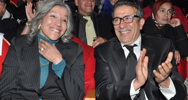 تكريم نعيمة المشرقي وعزيز سعدالله في مهرجان مكناس