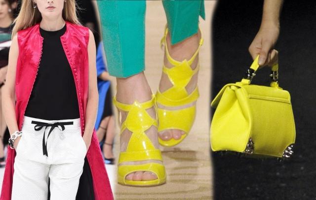 الألوان الزاهية تزين الموضة في ربيع 2015