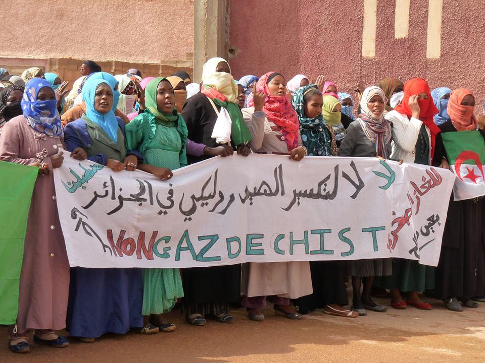 مسيرة مليونية بالجزائر لمناهضة استغلال الغاز الصخري