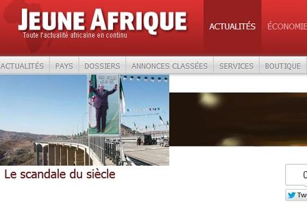 العدد الأخير من جون أفريك ممنوع في الجزائر