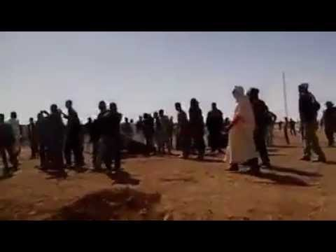 الدرك و الجيش الجزائري يهاجم مدينة عين صالح بسبب إنتفاضة الغاز الصخري