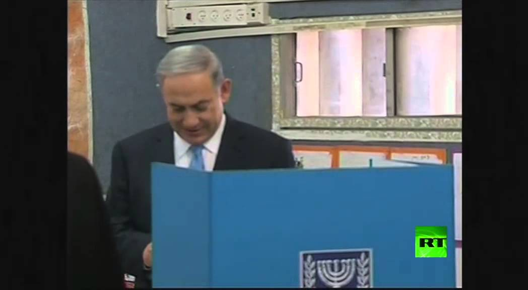 نتانياهو يدلي بصوته في الانتخابات