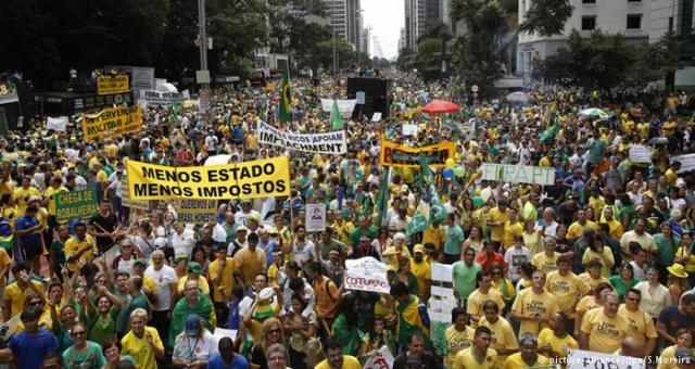 مليون ونصف برازيلي يتظاهرون ضد رئيسة البلاد