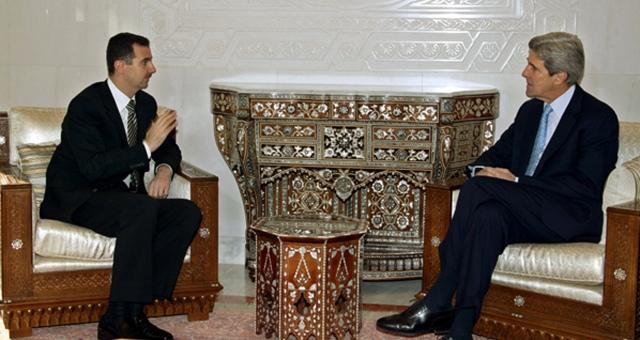 الأسد يعتبر تصريحات كيري مجرد فقاعات