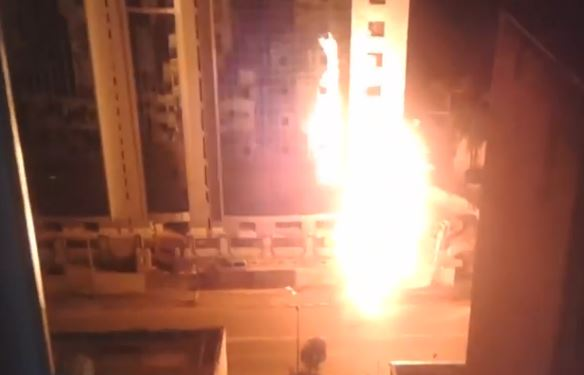 حريق مهول جراء انفجار انبوب غاز ببلدية بئر مراد رايس بالجزائر العاصمة.