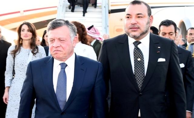 العاهل المغربي يستقبل الملك عبد الله الثاني بمناسبة زيارة العمل الرسمية للمملكة