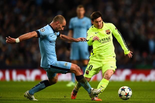 قمة مثيرة بين برشلونة ومانشستر سيتي