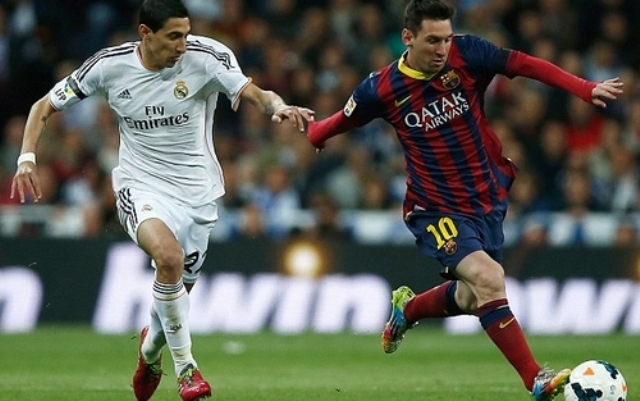 دي ماريا بجانب ميسي في فريق برشلونة !