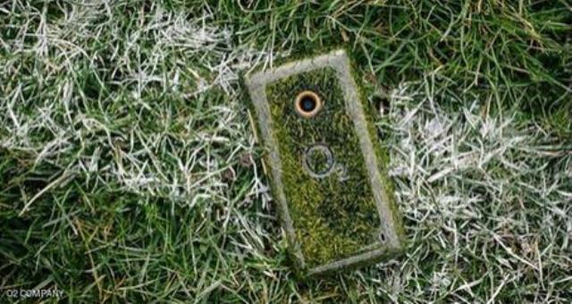 هاتف ذكي مصنوع من العشب