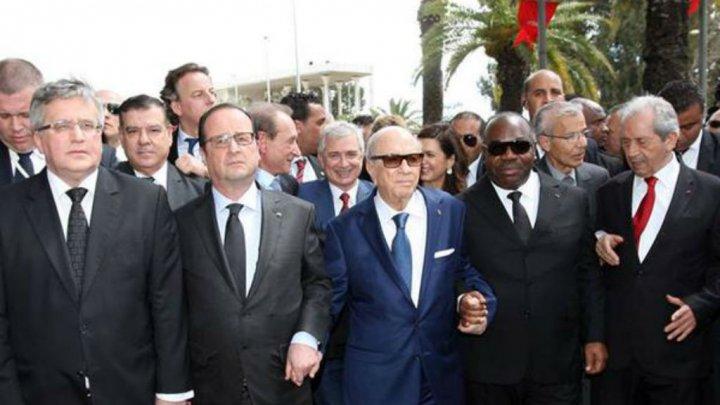 زعماء دول يشاركون في مسيرة كبرى بتونس ضد الإرهاب