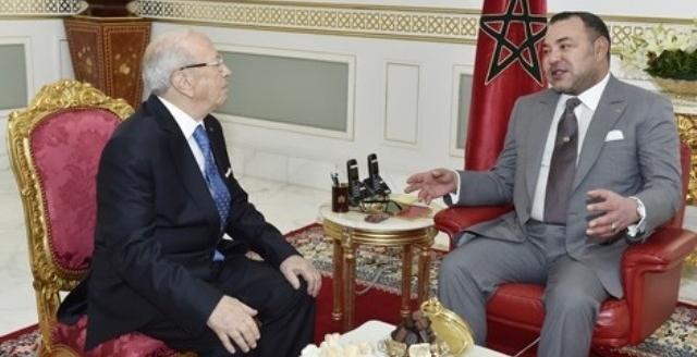 الرئيس التونسي يشيد بجهود العاهل المغربي من أجل إرساء قيم السلام والتسامح بالمنطقة