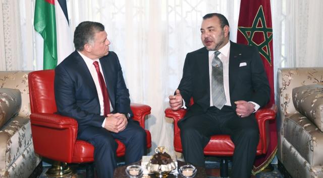 محادثات على انفراد بين العاهل المغربي والملك عبد الله الثاني في الدار البيضاء
