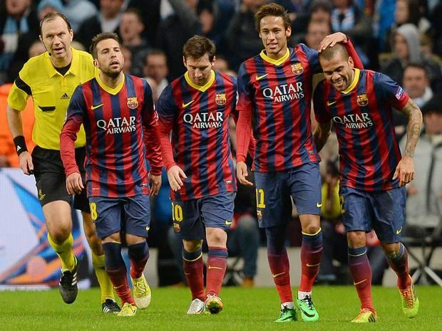 برشلونة يتأهل لربع نهائي دوري الأبطال