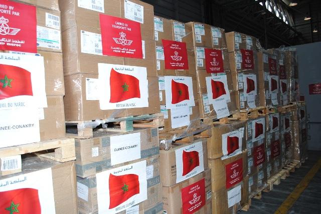 توزيع شحنات جديدة من المساعدات الغذائية والطبية المغربية للمتضررين في لبنان