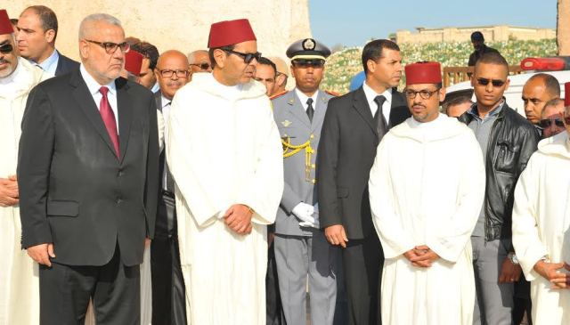 الأمير مولاي رشيد وعبد الإله بنكيران يحضران تشييع جثمان الفقيد اليعقوبي إلى مثواه الأخير