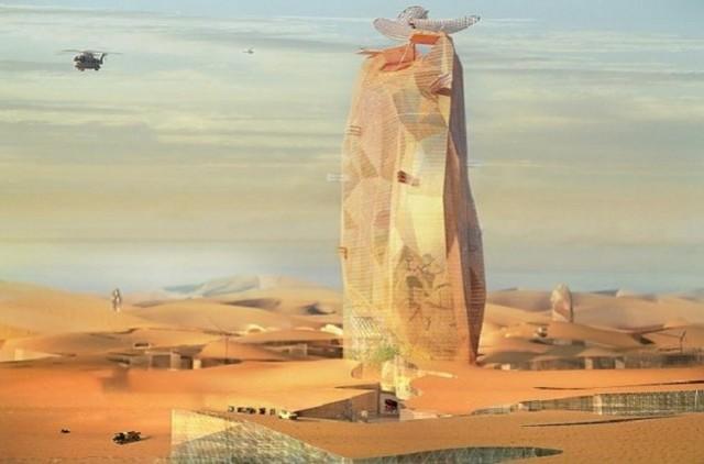 مصممون يخططون لبناء مدينة عمودية في الصحراء المغربية