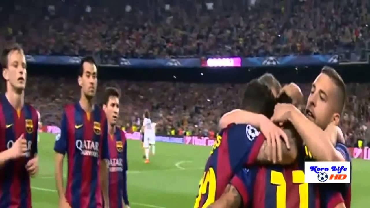 برشلونة وباريس سان جيرمان 2-0