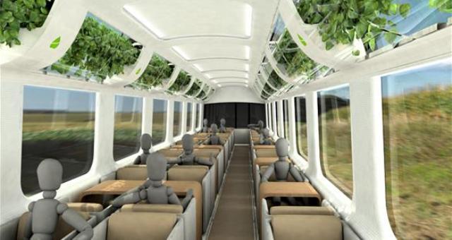 بالصور.. هذا القطار يحافظ على صحة ركابه