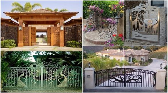 10 أفكار مميزة لديكور بوابة المنزل الخارجية