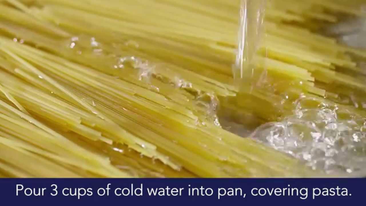 بالفيديو: معكرونة جديدة تمتص الماء وتطهى في دقائق