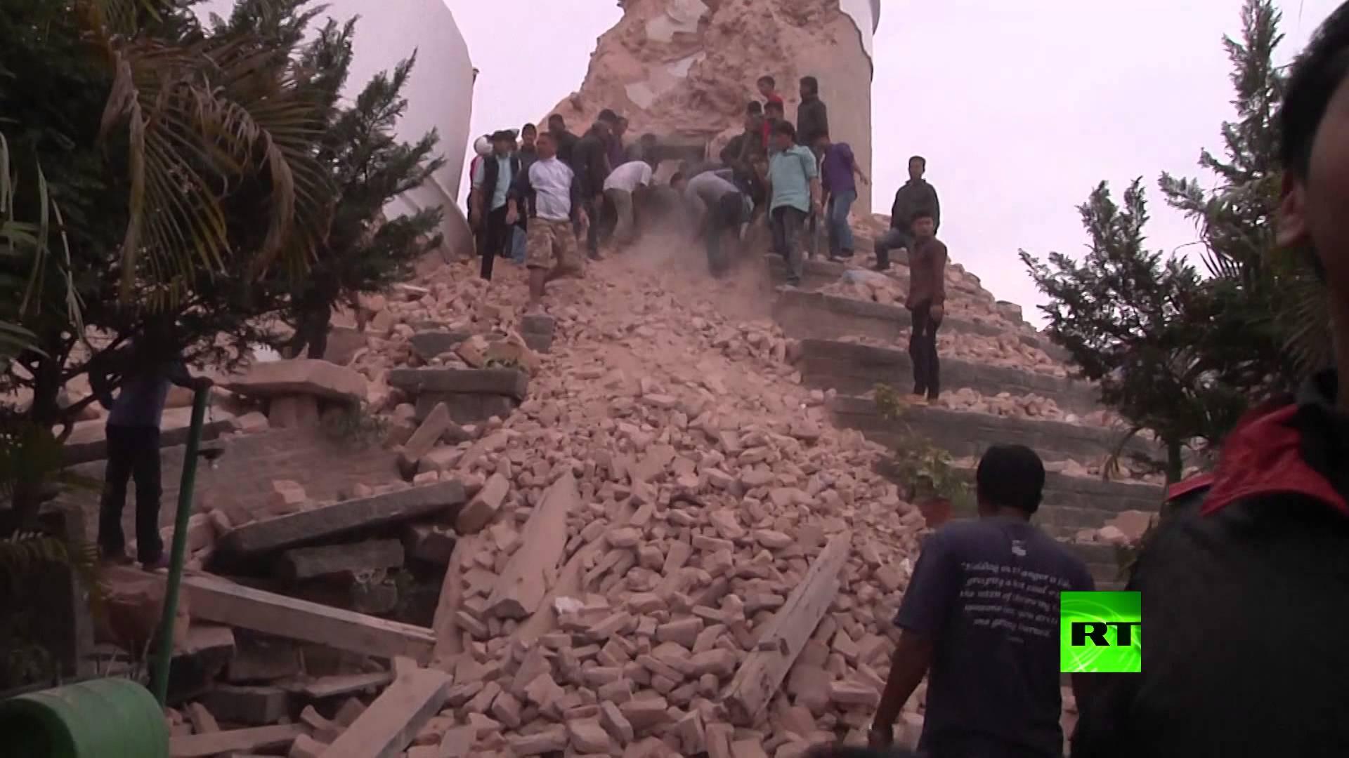 مشاهد م الزلزال الذي ضرب النيبال
