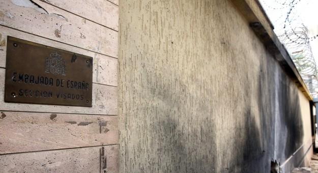 ليبيا: استهداف مقر السفارة الإسبانية بطرابلس