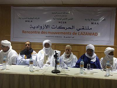 الحركات الازوادية ترفض التوقيع على اتفاق السلم والمصالحة في مالي المزمع تنظيمه بالجزائر