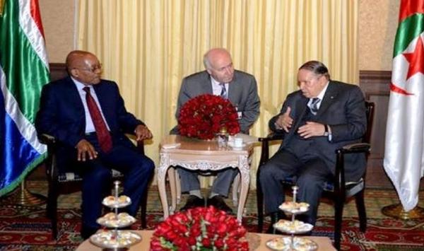 عبد العزيز بوتفليقة يستقبل رئيس جنوب افريقيا لتعزيز العلاقات