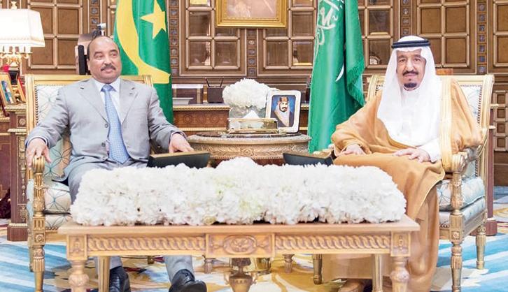 ولد عبد العزيز يبعث برسالة للملك السعودي سلمان