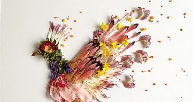 بريطانية تُشكل الفواكه والزهور والخضروات في لوحات