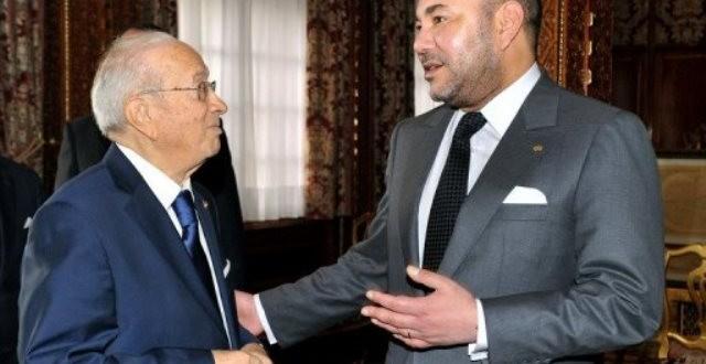 الملك-محمد-السادس-وباجي-السبسي