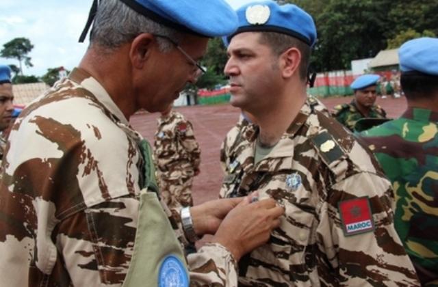 توشيح عناصر من القبعات الزرق المغاربة بميدالية الأمم المتحدة لحفظ السلام